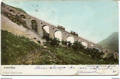 CPA - Carte postale -France - Lourdes - Funiculaire du Grand Jer - 1902 (CP606)