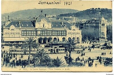CPA - Carte postale - France - Nice - Le Casino Municipal - Place Massena - 1921