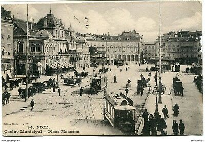 CPA - Carte postale - France - Nice - Casino Municipal - Place Massena - 1906