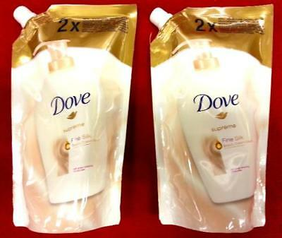 (5,69€/1l) 2 x DOVE BEAUTY CREME WASHLOTION FINE SILK FLÜSSIGSEIFE 1000ml