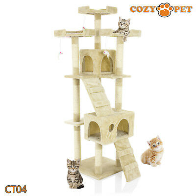 4e59dc8136f5 Cozy Pet Deluxe Cat Tree Sisal Scratching Post Quality Cat Trees -  CT04-Beige