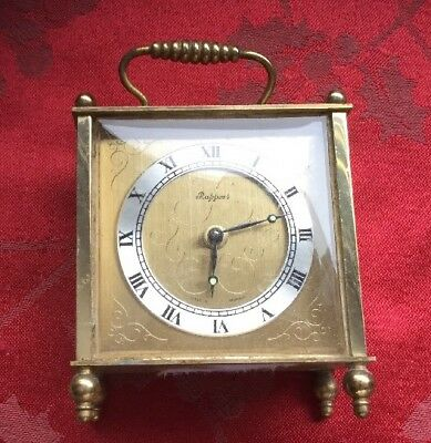 Fine Rapport Carriage Style Alarm Clock Brass Case In Working Order