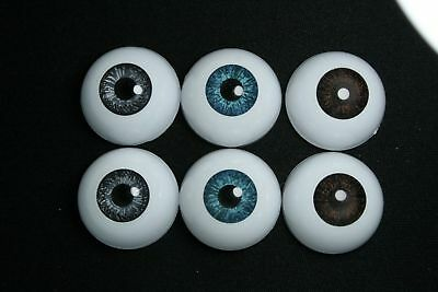 Bjd doll acrylic eyes 14 mm 3 pairs for reborn dollfie msd yosd minifee crafts