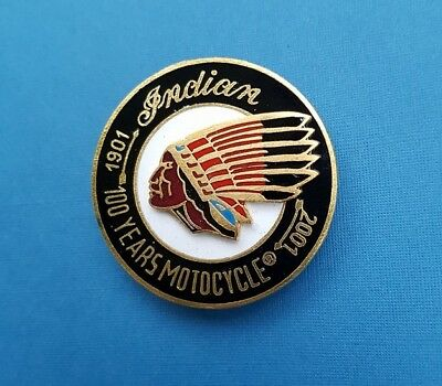 Indian  Motocycle  Jubilee 100 Years /1901-2001/  PIN,Abz.Badge /echt Emaillie/