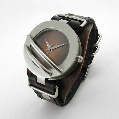 Voyager Watch: Sci-fi Infused Quartz Watch w/ Leather Strap Created by Hand.
