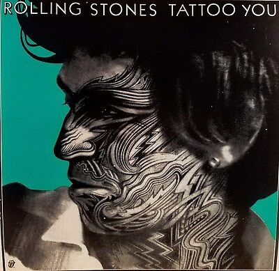 """ROLLING STONES """"TATTOO YOU"""" Poster Flat Suitable For Framing  Mint!  Promo 1981"""