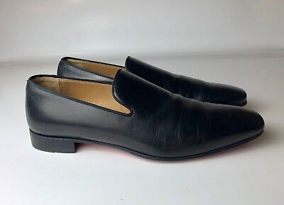 2d1172621223 Christian Louboutin Dandelion Flat Black Leather Mens Loafers Euro 41 US 8
