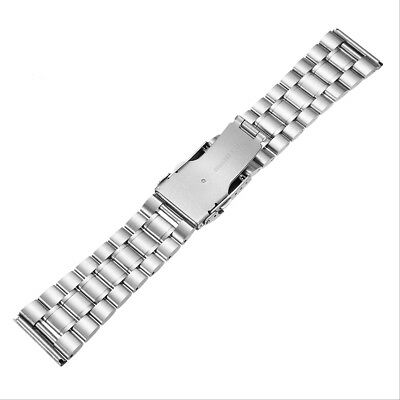 18/20/22/24mm Rplacement Stainless Steel Men Watch Band Strap Double Lock Flip B