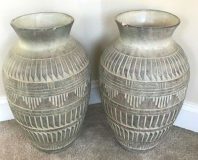 Ancient Roman Designed Pottery Vase (LOT OF 2)