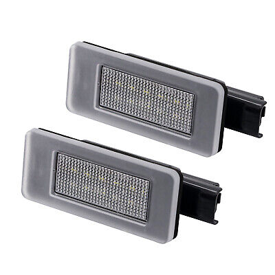 2x LED LICENSE NUMBER PLATE LIGHT PEUGEOT 3008 II 2 MK2 CANBUS