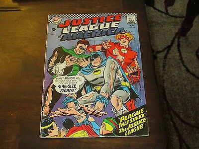 Justice League Of America #44 Batman Flash Green Lantern Cover Mid Grade