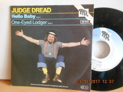 "7"" MEGARARE ! JUDGE DREAD - Hello Baby / One-Eyed Longer # 1981 ! MINT-"
