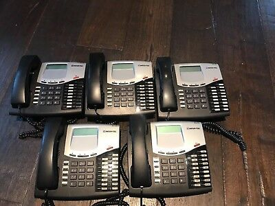 Lot of (5) Inter-Tel phone 8622 Black with Handset 550.8622