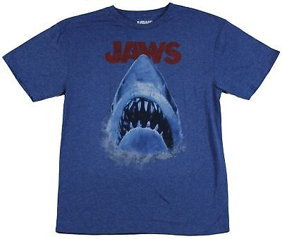 Jaws Mens T-Shirt - Distressed Classic Movie Poster Image