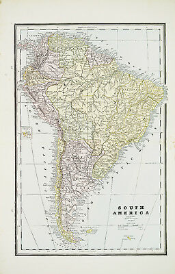 Large 1883 Cram's Map of South America