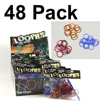 48 Pack Loom Bands Loops Gummibänder Armband Bandz Loop Looms Loopies