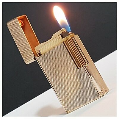 Briquet gaz * St Dupont Paris * grain d'orge-Gold.P- Lighter-Feuerzeug-Accendino