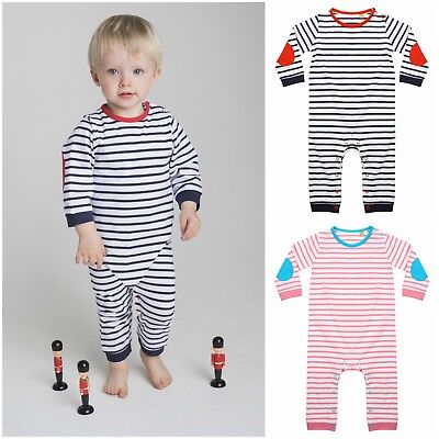 Baby Boy Girl Newborn Striped Romper Bodysuit Jumpsuit Breton Pyjamas PJ