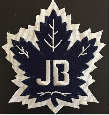 Toronto Maple Leafs Johnny Bower Tribute Patch #1 Nhl Puck Style Stanley Cup