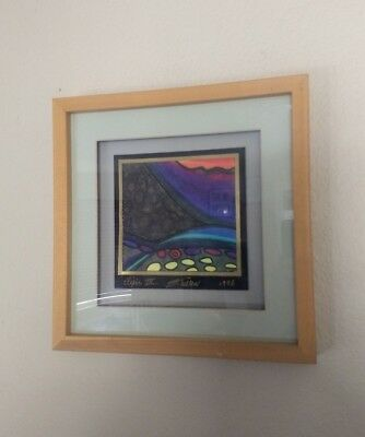Susan Cullen expressionist ABSTRACT Painting MODERN Art Original Signed 1998 CA