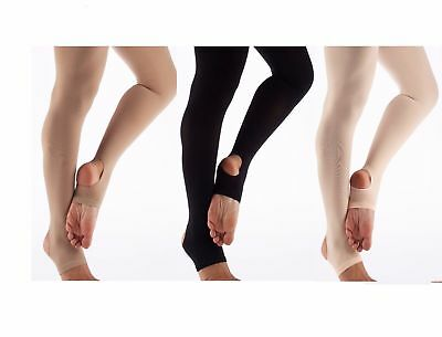 Stirrup Tights Ballet Pink & Tan Quality dance Tights 3 pack Various Sizes.SALE!