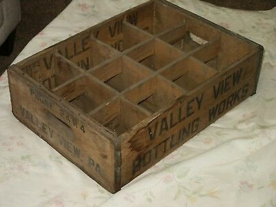 RARE Vintage Wooden Beverage Crate VALLEY VIEW (PA) BOTTLING WORKS Phone 24R4