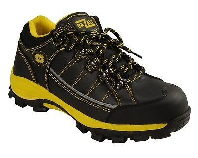 Men's Black & Yellow Water/Frost Proof Leather Shoe W/ Reflective Trim **MBM9120
