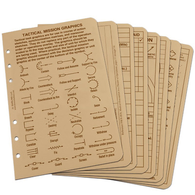 """Rite in the Rain All Weather Tactical Reference Card Set, 4 5/8"""" x 7"""", Tan"""