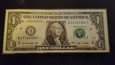 2009 $1 Star Note New York Federal Reserve Note Collectible Rare Currency Error