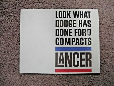 1961 Dodge Lancer dealer brochure You don't see these to often this nice