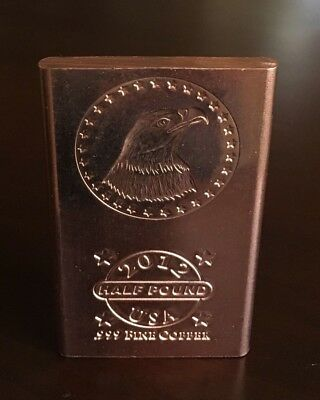 5 *2012* AMERICAN EAGLE Half Pound (8oz.) .999 Fine Copper Bullion Bars 40oz.
