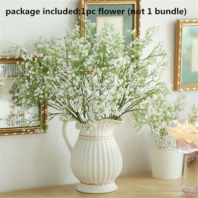 Breath White Artificial Hotel Party Wedding Home Decorations Plastic Flowers