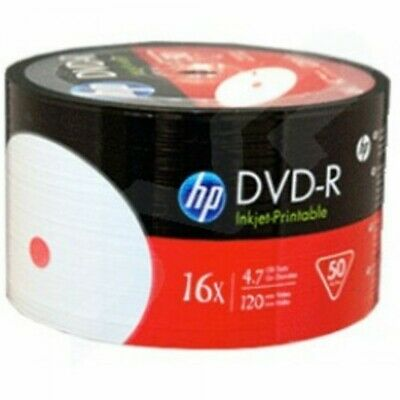 HP HP DVD-R 16X 4.7GB full hub white inkjet Printable DVD -R Blank media Discs