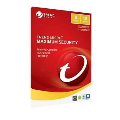 Trend Micro Maximum Security 11 2PC 2018 Multi Devices WINDOWS 7 8.1 10 POST