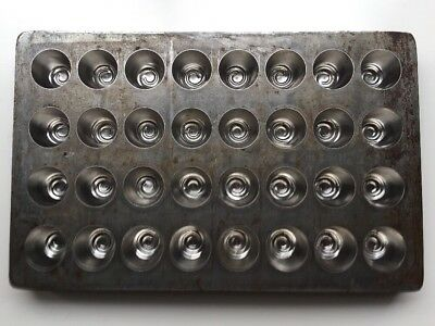 Antique Vintage Cast Iron / Steel? Candy CHOCOLATE Mold Truffles Cherry Cordial