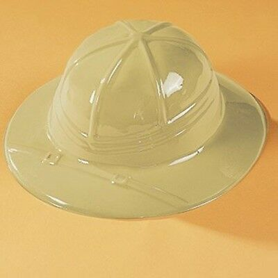 1 x SAFARI PITH HELMET HAT JUNGLE EXPLORER PARTY BOYS CHILD PLASTIC HATS CAP