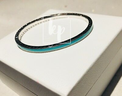 Pandora Mint Radiant Hearts Bangle S925 ALE 590537EN105 Size 17.5cm (With Pouch)