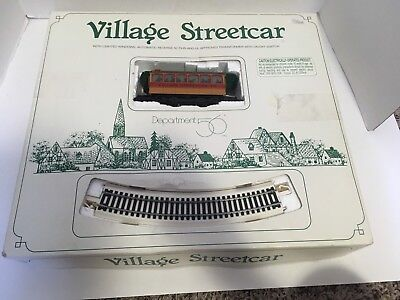 Dept 56 Village Street Car - used with Dickens Village set Christmas for Parts