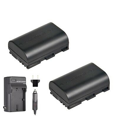 2x Extra Battery for LP-E6N and Charger Canon 5D Mark III Mark IV