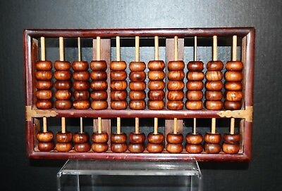Vintage Chinese Hainan Huanghuali carved Wooden Abacus 11 columns x 7 beads海南黄花梨