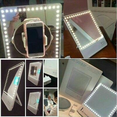 RIKI SKINNY LIGHTED MAKEUP MIRROR with BLUETOOTH by GLAMCOR*LimeLight Edition