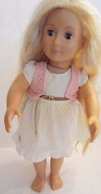"Battat Our Generation 18"" PHOEBE DOLL From Hair to There Hair Grows Blonde"