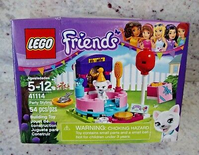 LEGO FRIENDS KITTY CAT BIRTHDAY PARTY STYLING SET #41114- SEALED / Imperfect Box
