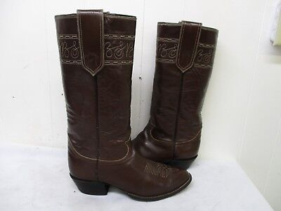 1fedba1c968 TONY LAMA BROWN Leather Tall Stovepipe Cowboy Boots Size 9 E Style 6431 USA