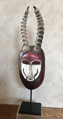 REDUCED VINTAGE African wooden mask-1960-70's w/custom made Museum quality Mount
