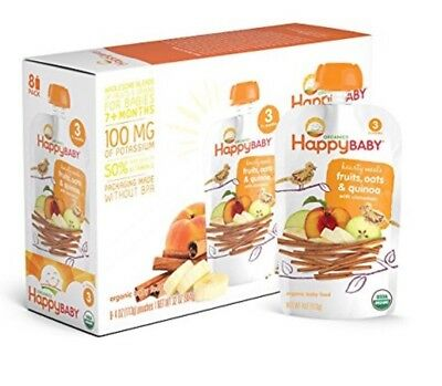 Happy Baby Organic Stage 3 -Hearty Meals-Fruits-Oats & Quinoa-4oz-16 Ct-SEE DET