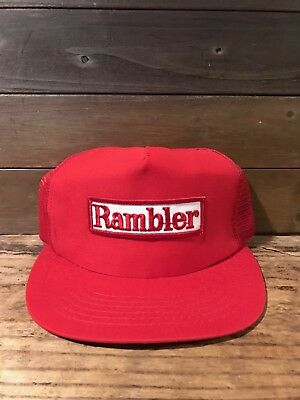 Deadstock Vintage Mesh Snap-Back Holiday RAMBLER  Trucker Hat Camping RV