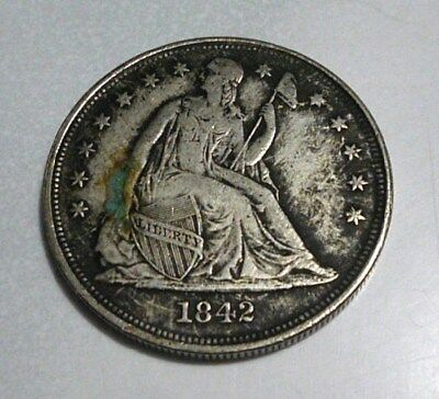 1842 Seated liberty and Morgan dollar mule coin fantasy coin