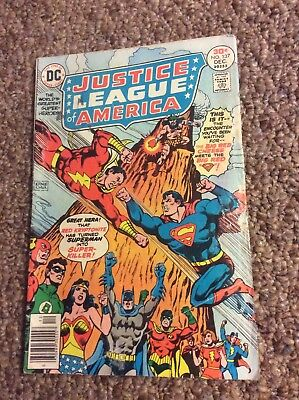 Justice League Of America #137! Superman vs Captain Marvel! Nice Condition!