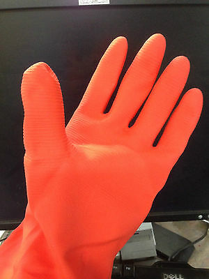 12 Pairs Heavy Duty Industrial Household Latex Rubber Gloves